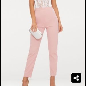 Light pink high waisted trousers